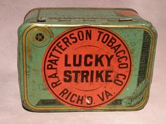 LUCKY STRIKE CUT PLUG TOBACCO TIN BY R.A. PATTERSON TOBACCO COMPANY - $39.99