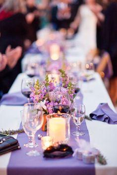 Decoração casamento lilás