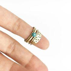 Brass stacking rings.  #DearRae DearRaeJewellery #Brassrings #StackingRings Jewelry Box, Jewellery, Stacking Rings, Turquoise Bracelet, Brass, Bracelets, Instagram Posts, Jewellery Box, Jewel Box