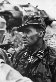 """Jochen Peiper, Germany's most feared and perhaps most effective Panzer commander. This is during """"Unternehmen Zitadelle"""" or the Battle of Kursk, Russia, July 1943."""