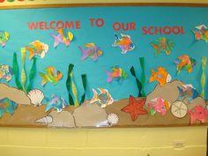 preschool bulletin board   Trinity Preschool MP: Welcome to our school Fish Bulletin Board