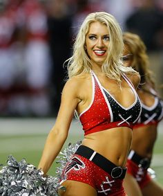 #NFL2016 An Atlanta Falcons cheerleader performs during the game against the Washington Redskins at Georgia Dome on August 11 2016 in Atlanta Georgia