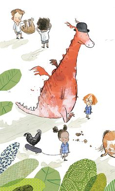 A dragon from BIG PET DAY by Gus Gordon