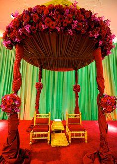 Emerald Green and Maroon Hindu and Sikh Weddings on IndianWeddingSite.com