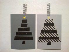 Christhas cards:  Washi-tape and DecoPen    locker301-320.blogspot.com Xmas, Christmas, Washi Tape, Advent Calendar, Holiday Decor, Cards, Home Decor, Navidad, Navidad