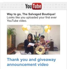 Kathy & Karen say thank you and announce the winners of The Salvaged Boutique Grand Opening event Giveaway!