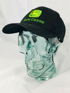 5da6c0215a9 John Deere Hat Black Snapback Baseball Cap. eBay