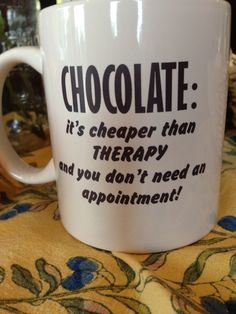 Chocolate: the feel-good food... we have the best coffee infused chocolate at GiveOnlyTheBest.com.