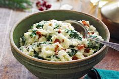 Bacon-Spinach Mashed Potatoes recipe