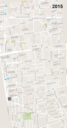 El PASEO DE LA VIGA 1869-2015, mapa interactivo, comparación de la traza urbana de la Ciudad de México