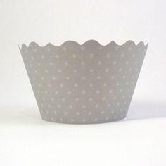 Platinum grey cupcake wrapper by Bella Cupcake Couture