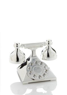 GODINGER Telephone Salt and Pepper Shakers with Stand