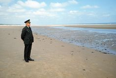 Omar Bradley on Omaha Beach, Normandy, 1969