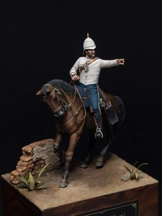 (Queen's Own) Hussars Rawalpindi India 1877 by Gabriele Leni · Putty&Paint British Colonial, Figure Model, British Army, Vignettes, Riding Helmets, Sculpting, Steampunk, Miniatures, Military