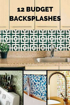 These creative ideas for low cost DIY backsplashes will inspire you to make a change in your kitchen.