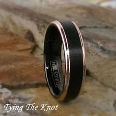 Modest Titanium Beveled Edge Black Ip-plated 8 Mm Brushed Wedding Band Price Remains Stable Jewelry & Watches