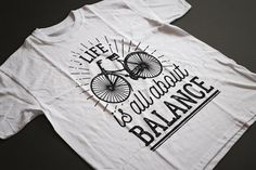 98e218d8 Life is all about Balance T-Shirt. Graphic by TheBlackTeeShack Fast  Fashion, Organic