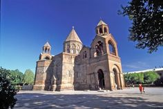 Catherals and Churches of Echmaitsin, Armenia. Site to the oldest Christian places of worship in Armenia, dating back to 301 A.D.