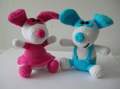 Little doggy Boo and Belle  2 PDF crochet patterns