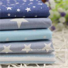 5 pcs algodão para DIY Patchwork costura crianças sacos Talasite estrela e amor de cama têxteis lar 40 * 50 cm(China (Mainland))