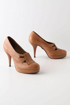 Anthropologie - Stacked Strap Heels