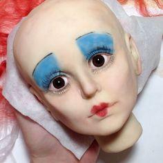 45 отметок «Нравится», 7 комментариев — Наталья Привалова (@nataliya_privalova) в Instagram: «Make up ( по моей тайной методике ) #моипроцессы #кукларучнойработы #doll #росписькуклы»