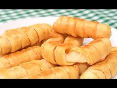 Cómo hacer Tequeños   Dedos de Queso deliciosos! - YouTube Quesadilla, Omelette, Crepes, Hot Dog Buns, Carrots, Waffles, Delish, Food And Drink, Bread