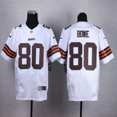 """$23.88 at """"MaryJersey""""(maryjerseyelway@gmail.com) Nike Browns 80 Dwayne Bowe White Men Stitched NFL Elite Jersey"""