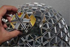 Pretty amazing Tetra pak origami lamps designed by Ed Chew