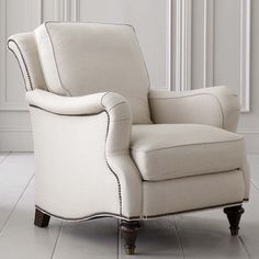 option one by TV and sofa closet to kitchen Comfortable Blend Down Fill Fabric Accent Chair