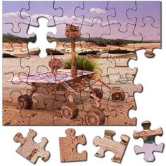 Modified Mars giftshop: Opportunity's Bicentennial Puzzle: Mars rover Opportunity still going strong after two hundred years, tirelessly driving around on a fully terraformed planet. The Martian, Mars, The Good Place, Opportunity, Planets, I Shop, Great Gifts, Puzzle, Strong