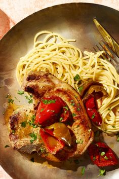 Veal Chops in Cherry-Pepper Sauce Recipe - NYT Cooking Sauce Recipes, Pork Recipes, Cooking Recipes, Veal Chop, Sauces, Braised Red Cabbage, Red Sauce, Pork Dishes, Pork Chops