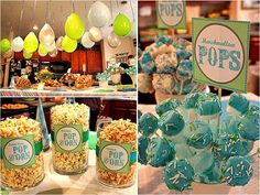 She is about to Pop popcorn baby shower baby shower ideas baby shower images baby shower pictures baby shower photos marshmallow pops baby shower themes