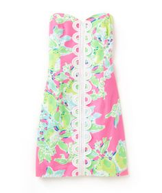 Lilly Pulitzer Angela Strapless Sweetheart Dress in Pink Lemonade