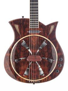 Custom Made The Mermaid Spider Bridge Electric Resonator Guitar
