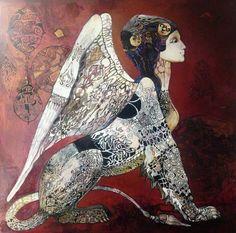 Saatchi Art: Sphinx Painting by Olga Zelinskaya