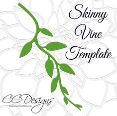 Capture the beauty of wisteria through paper crafting with these easy wisteria templates and tutorial! WHATS INCLUDED? ::::::::::::::::::::::::::::::::::::::::: ♥ Our signature top selling paper wisteria template with the skinny vine and 3 point leaf template design. Convenient
