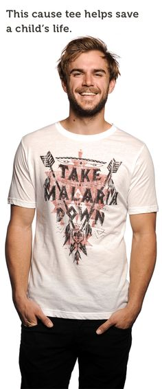 This week we're fighting to end Malaria in Rwanda, Africa! Pick up a tee (Click on the picture), look good, AND save lives at the same time. :)