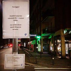"""""""Storia di una Corticella e dell'Arcoveggio che le insegnò a volare"""" continua.  Qui con una fermata poetica in via Jack London, Bologna."""
