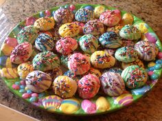 Italian Easter Egg Cookies I made these today for Easter~they are very good & so pretty for the holiday!!