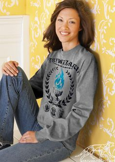 Harry Potter SWEATSHIRT TRIWIZARD TOURNAMENT For Men, Women, Wizards, Muggles or Even Hogwarts Alumni. Blue Flames of the Goblet of Fire