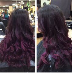 Purple ombre, now if only I could ever bring myself to get my hair long...