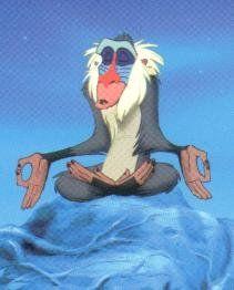 lion king rafiki | Rafiki sitting in 'Peace Pose'