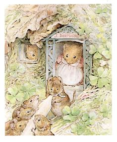 """'The Tale of Ginger and Pickles', 1909 -- Beatrix Potter. """"After a time Mr. John Dormouse and his daughter began to sell peppermints and candles. Susan Wheeler, Coelho Peter, Beatrix Potter Illustrations, Beatrice Potter, Peter Rabbit And Friends, Marjolein Bastin, Children's Book Illustration, Book Illustrations, Whimsical Art"""