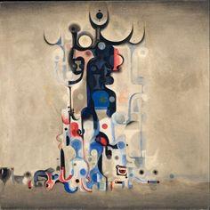 """Ibrahim El-Salahi """"Vision of the Tomb"""" 1965 Museum for African Art, New York"""