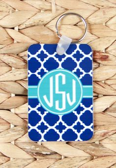 Bag Tags Monogram Luggage Tag Custom Monogrammed Gifts Gym Bag Luggage Tags Personalized Custom Gifts Bridal Party Bridesmaids Groomsmen by ChicMonogram on Etsy