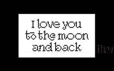 I Love You to the Moon and Back Quote Small Quotes Cross