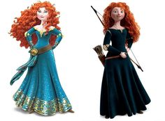 """When Disney began to market Merida after the film had aired, they attempted to give her a make-over to fit their desired look. This completely negates the positive message they seemed to be aiming for. """"When little girls say they like it because it's more sparkly, that's all fine and good but subconsciously, they are soaking in the sexy """"come hither"""" look and the skinny aspect of the new version. It's horrible!"""" - Brenda Chapman (Brave's film writer)"""