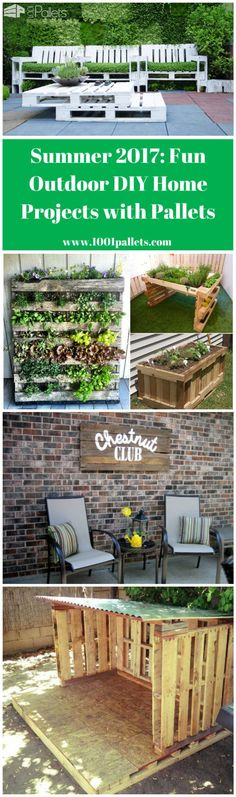 Anyone who loves to complete DIY projects at home knows that material costs are substantial. Now that the weather is finally changing for the better, most of us have dozens of outdoor projects in the pipeline—but budget and time constraints often Outdoor Entertaining, Outdoor Fun, Outdoor Ideas, Backyard Ideas, Garden Ideas, Backyard Play Equipment, Pallet Decking, Pallet Planters, Pallets Garden