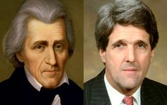 Famous Lookalikes: Andrew Jackson - John Kerry (Images of Andrew Jackson and John Kerry provided by Getty Images) Types Of Ghosts, Unexpected Relationships, John Kerry, Andrew Jackson, Entertainment Tonight, Pictures Of People, Double Take, Weird World, Celebrity Look